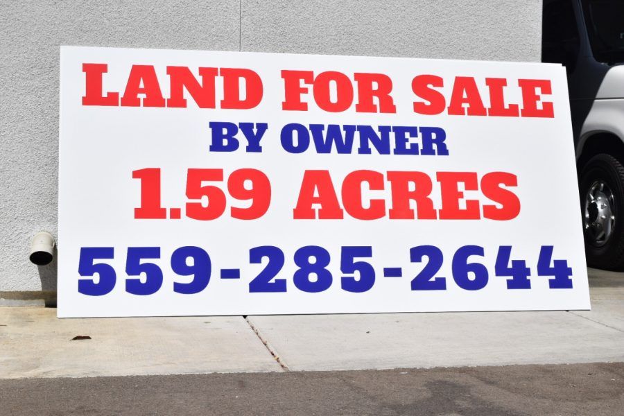 For Sale Sign on MDO