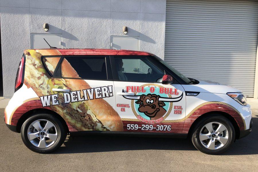 Full O Bull Vehicle Wrap